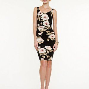 Le Chateau Ruched Cowl Dress Cocktail / Wedding